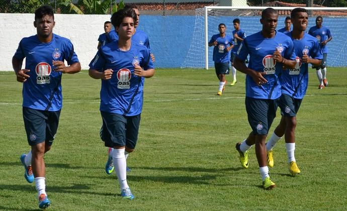 Treinamento Bahia Copa São Paulo Ilhabela (Foto: Filipe Rodrigues)