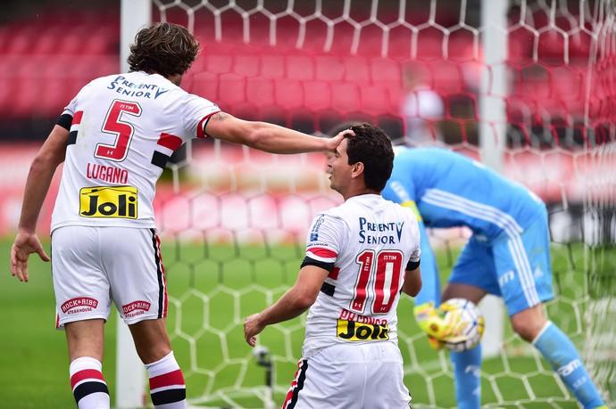 São Paulo X Palmeiras Lugano e Ganso (Foto: Marcos Ribolli)