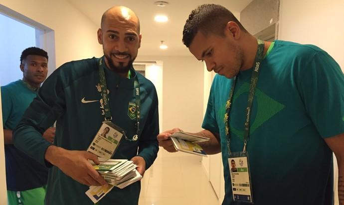 Marquinhos e Rafael cartas Time Brasil Rio (Foto: Divulgação)