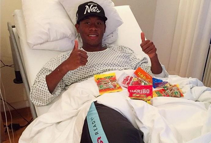 David Alaba Bayern de Munique - hospital (Foto: Reprodução / Instagram)