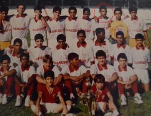 Djalmir na equipe sub 17 do Sergipe, em 1993 (Foto: Arquivo pessoal)