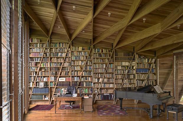 Resultado de imagem para biblioteca caseira