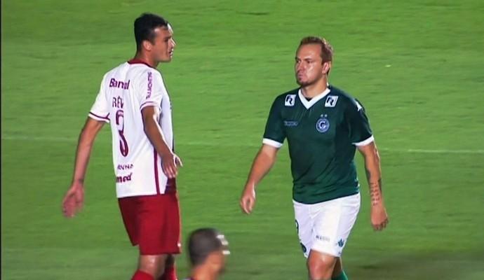 Goiás x Internacional no Serra Dourada (Foto: Reprodução/Premiere)