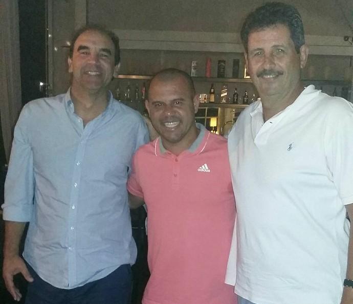 Ricardo Gomes, Roni e Duílio (Foto: Arquivo Pessoal/Duílio Dias)