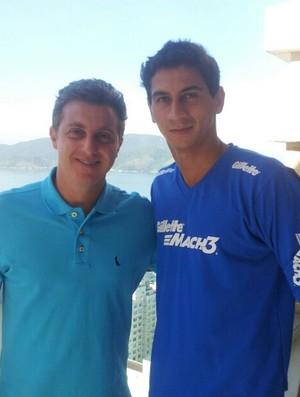 Luciano Huck e Ganso em Santos (Foto: Reprodução)