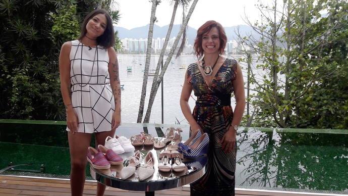 Mistura dá dicas de looks e falar sobre sapatos  (Foto: Lívia Andrade/RBS TV)