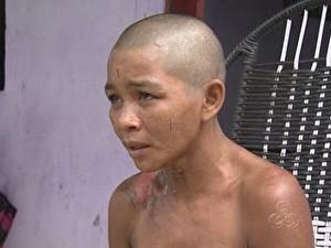 grávida torturada marido Amazonas (Foto: Reprodução/Rede Amazônica)