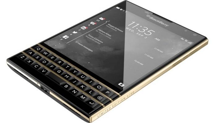 BlackBerry Passport dourado é mais caro que iPhone 6 Plus (Foto: Divulgação)