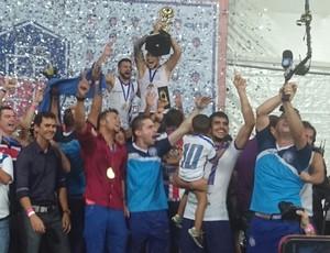Bahia comemora título estadual (Foto: Eric Luis Carvalho)
