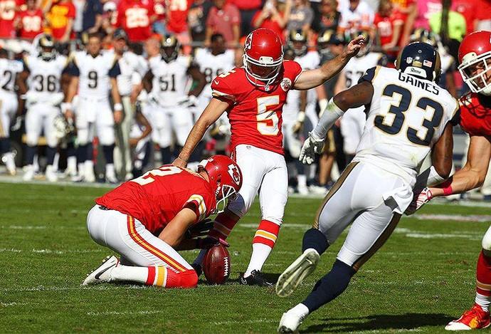 Cairo Santos, Kansas City Chiefs x St. Louis Rams NFL (Foto: Divulgação / Kansas City Chiefs)