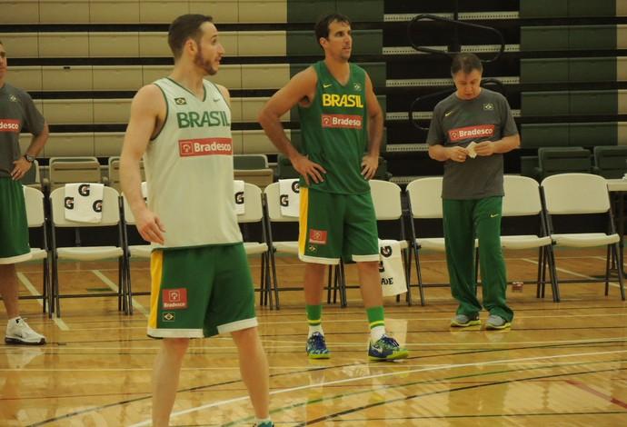 Seleção Brasileira em treinamento em Chicago (Foto: Fabio Leme)