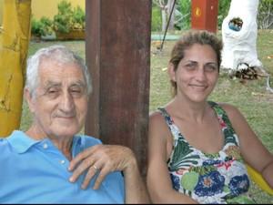 Armando e Ana Cláudia pouco antes de o dono do bar falecer (Foto: Arquivo Pessoal)