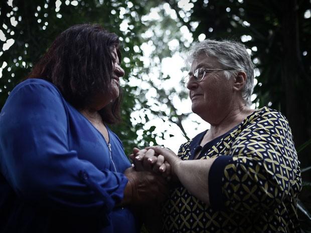 Willman e Angela pretendem oficializar a união no próximo mês (Foto: Caio Kenji/G1)