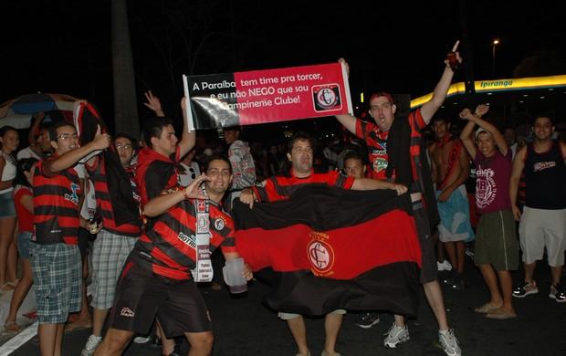 torcida campinense, campinense, copa do nordeste, festa (Foto: Lucas Barros / Globoesporte.com/pb)