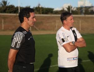Santos Sandro Orlandelli Hugo Machado (Foto: Clayton Galvão / Divulgação Santos FC)