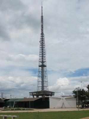 A Torre de TV estará aberta a visitas das 8h às 18h nessa quarta-feira (1º) de feriado (Foto: Luciana Amaral/G1)