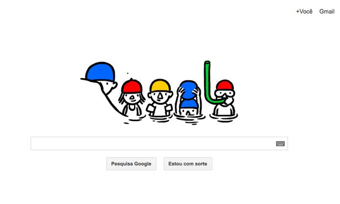 Doodle do Google de Solstício de verão (Foto: Reprodução/ Google)