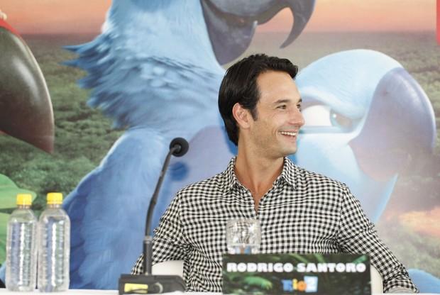 Rodrigo Santoro na coletiva do filme RIO 2 (Foto: Marcos Serra Lima / EGO)