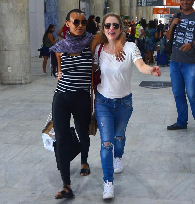 Aline Wirley e Lu Andrade (Foto: William Oda/AgNews)