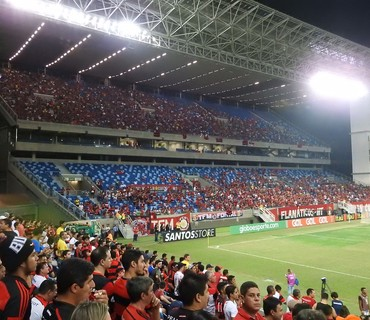 Flamengo Torcida Arena Pantanal (Foto: Fred Gomes)