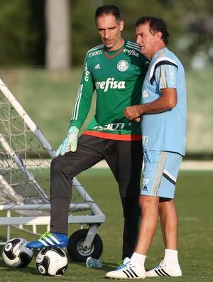Fernando Prass e Cuca Palmeiras (Foto: César Greco / Ag. Palmeiras / Divulgação)
