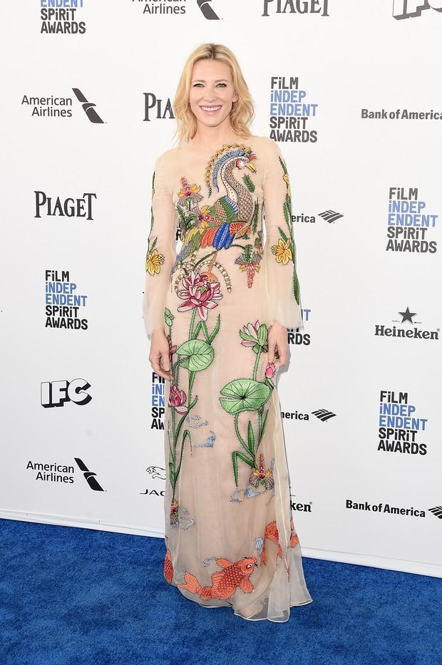 Cate Blanchett em prêmio de cinema em Los Angeles, nos Estados Unidos (Foto: Jason Merritt/ Getty Images/ AFP)