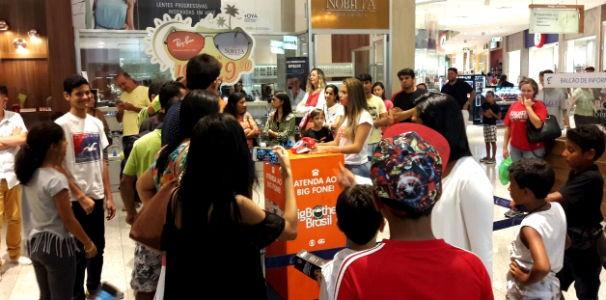 Big Fone atraiu público para shopping de Maceió  (Foto: Divulgação / Marketing TV Gazeta)