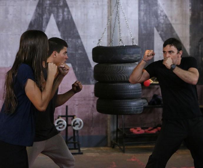 Separa que é briga!  (Foto: Isabella Pinheiro/Gshow)