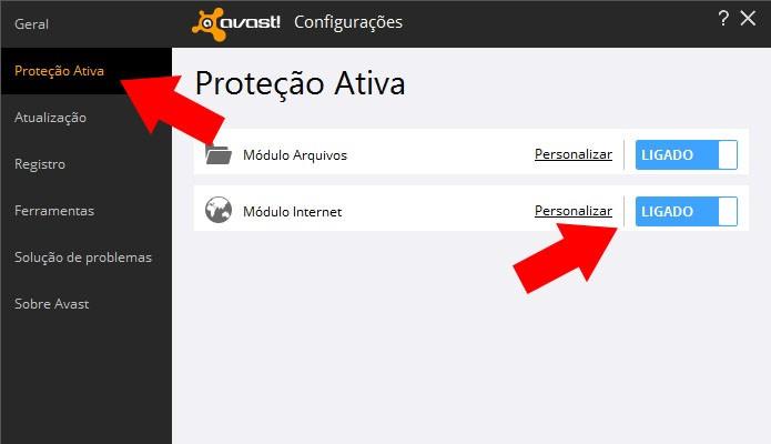 Desligue o antivírus (Foto: Reprodução/Paulo Alves)