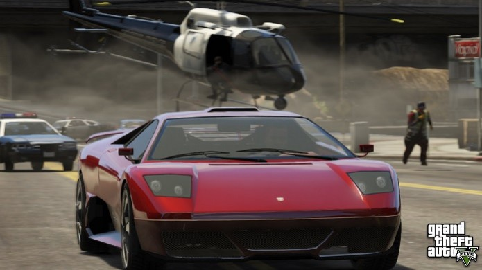 Roubar carros no GTA V é bem divertido (Foto: Divulgação/Rockstar) (Foto: Roubar carros no GTA V é bem divertido (Foto: Divulgação/Rockstar))
