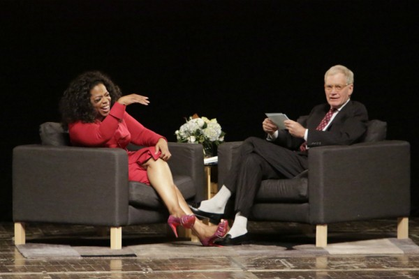 Oprah Winfrey x David Letterman  (Foto: Getty Images)