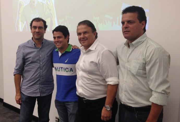Apresentação Uberlândia Esporte UEC Guto Braga, Kriss Corso, Márcio Malamud e Paulinho Mclaren (Foto: Gullit Castro)