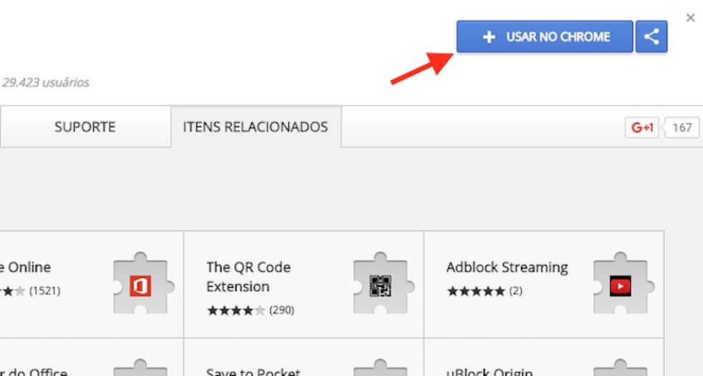 Opção para preparar o download da extensão Page Eraser no Google Chrome (Foto: Reprodução/Marvin Costa)
