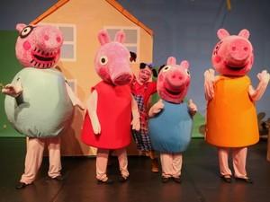 Espetáculo 'Peppa Pig e o Porquinho Mau' é apresentado em Goiânia, Goiás (Foto: Divulgação)