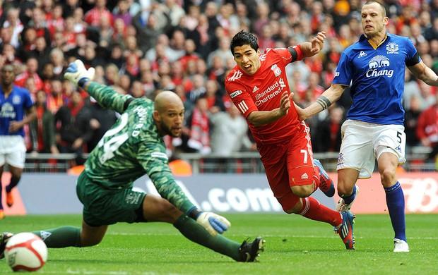 Luis Suarez - Liverpool x Everton (Foto: EFE)