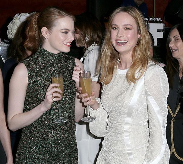 Emma Stone e Brie Larson (Foto: Getty Images)