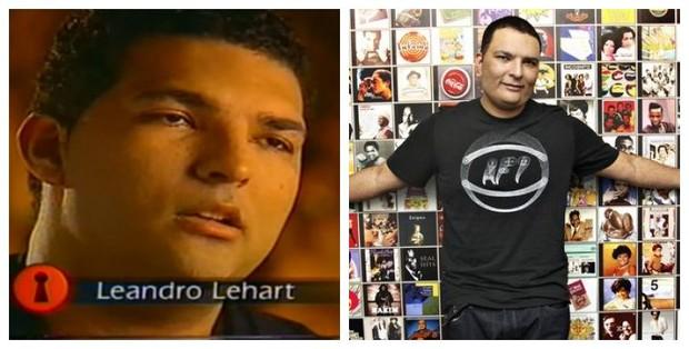 Antes e depois de Leandro Lehart (Foto: Reprodução de Vídeo | Celso Tavares / EGO)
