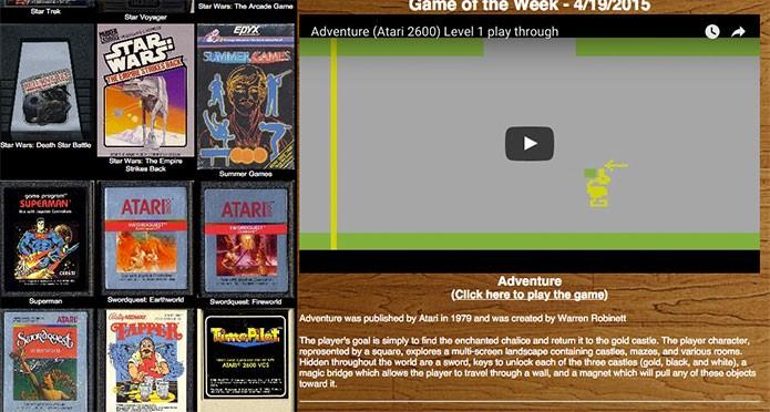 Escolha seu game de Atari ao lado (Foto: Reprodução/Felipe Vinha)