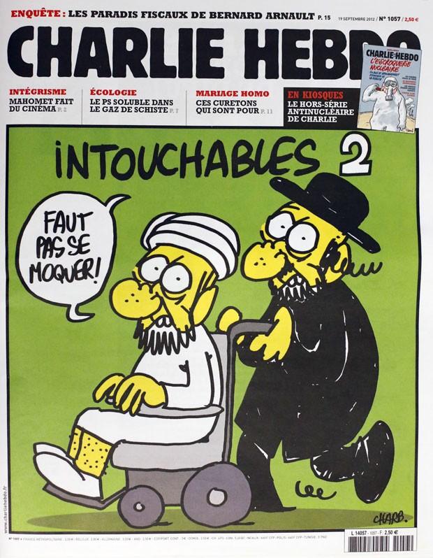 Revista satírica 'Charlie Hebdo' publicou caricaturas do profeta Maomé. (Foto: AFP)