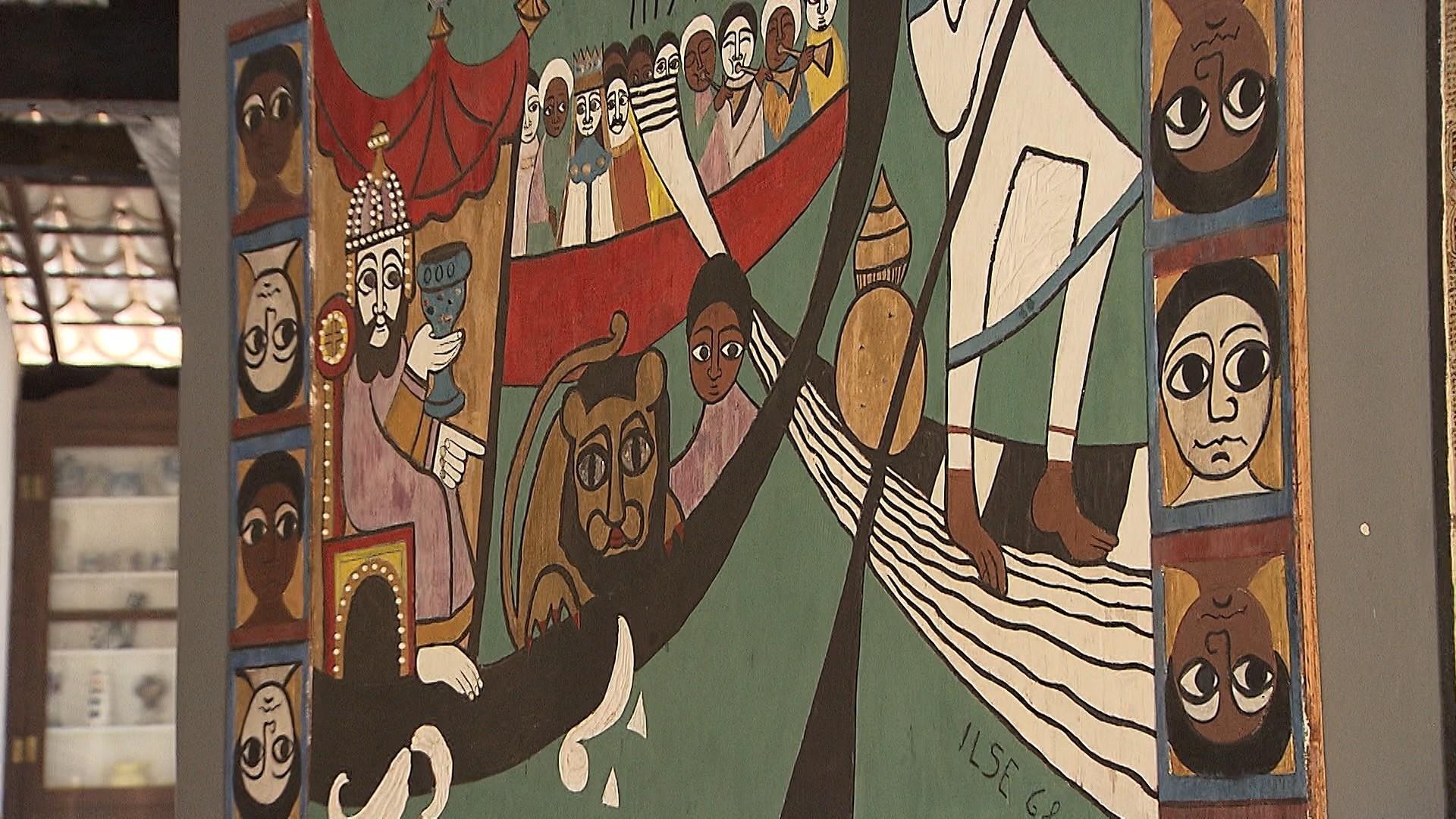 Um dos trabalhos de Ilse, que também pintava e preferia telas (Foto: Divulgação)