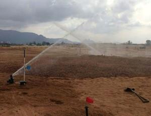 Irrigaçao campo de golfe rio 2016  (Foto: Divulgaçao)