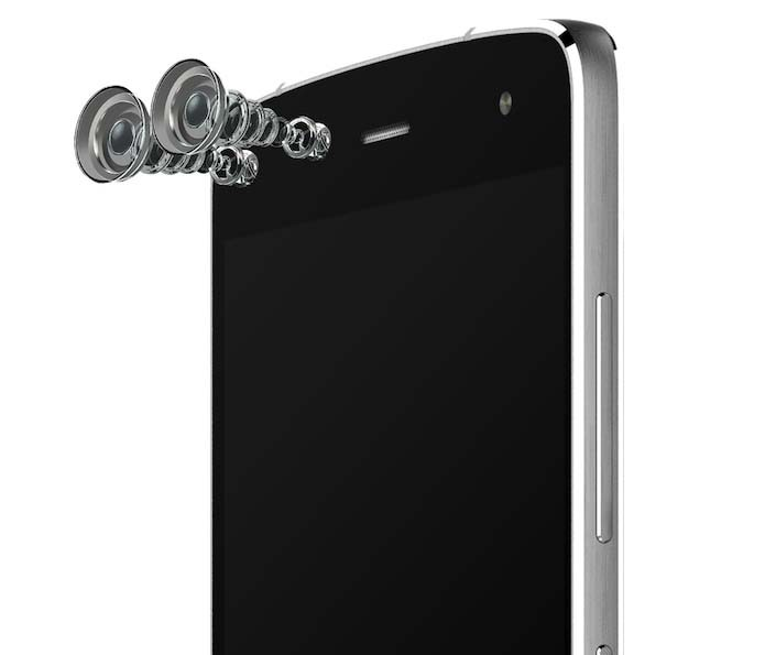 Alcatel Flash tem duas câmeras frontais (Foto: Divulgação/Alcatel)