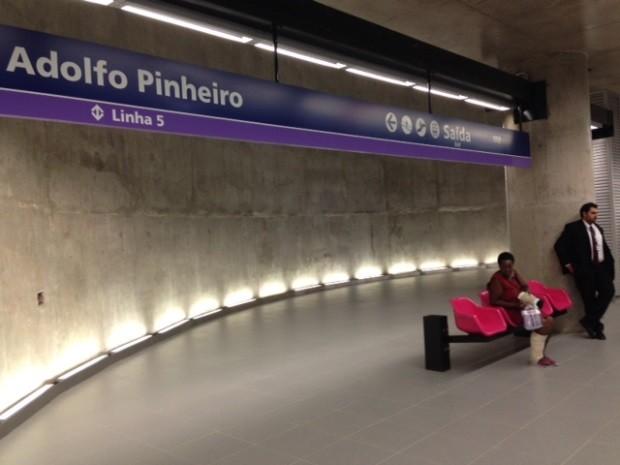 Estação Adolfo Pinheiro, da Linha 5-Lilás do Metrô, foi inaugurada nesta quarta-feira (12). (Foto: Márcio Pinho / G1)