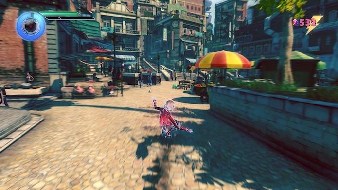 Gravity Rush 2: Kat tem novos movimentos à disposição (Foto: Reprodução/Victor Teixeira)