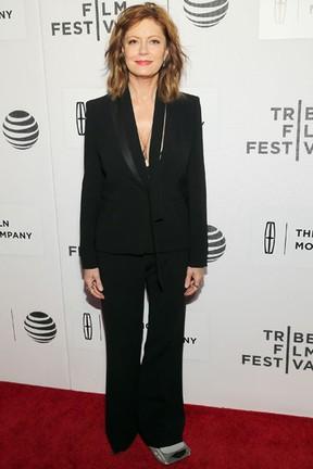 Susan Sarandon em première de filme em Nova York, nos Estados Unidos (Foto: Jemal Countess/ Getty Images/ AFP)