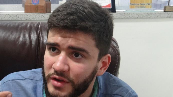 Felipe Feijó, presidente da Federação Alagoana de Futebol (Foto: Denison Roma / GloboEsporte.com)