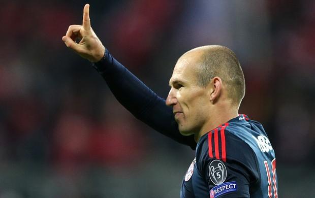 Robben comemoração gol Bayern de Munique CSKA (Foto: AP)