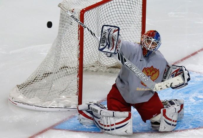 Olimpiadas de Inverno Sochi - Hoquei - Anna Prugova, Russia (Foto: Reuters)