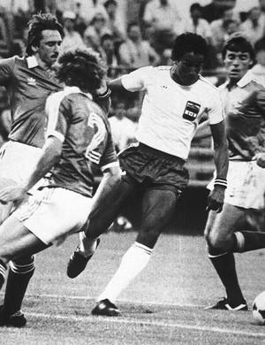 Porfirio Betancourt jogo Honduras x Espanha em 1982 Copa do Mundo Arquivo (Foto: Arquivo AP)