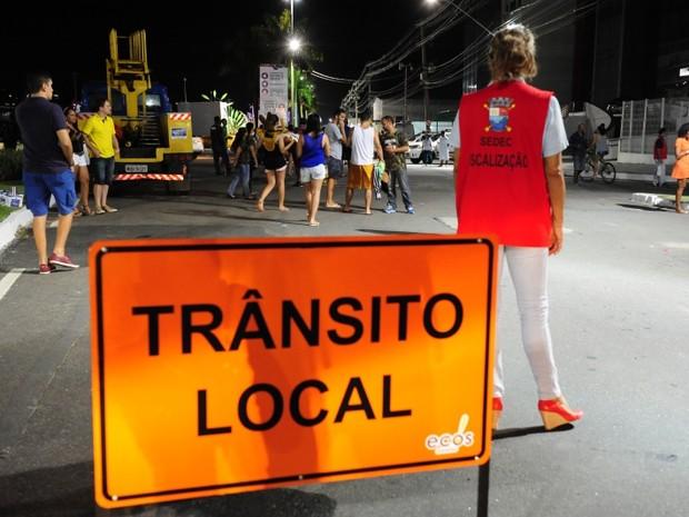 Avenida Dário Lourenço estará liberada para o trânsito de veículos neste sábado (20) (Foto: Wilbert Suave/ PMV)